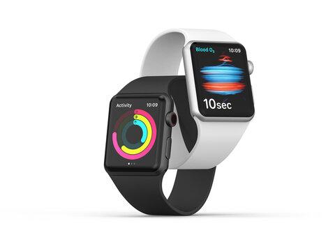 Cracow, Poland - 23 September 2020: Apple Watch SE