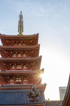 Senso-ji Temple in Asakusa, Tokyo, Japan