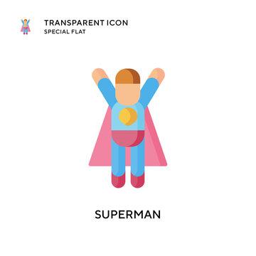 Superman vector icon. Flat style illustration. EPS 10 vector.