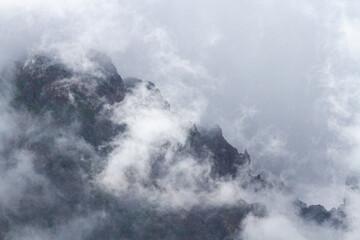 Smog over Ribeiro Frio, Madeira