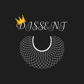 Dissent concept background, banner, poster, sticker, t-shirt design