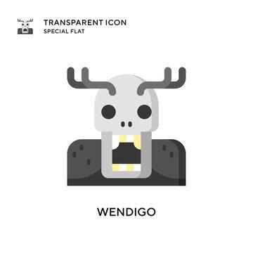 Wendigo vector icon. Flat style illustration. EPS 10 vector.
