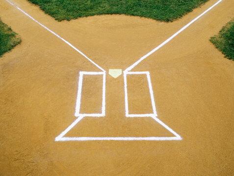 Batters Box on Baseball diamond