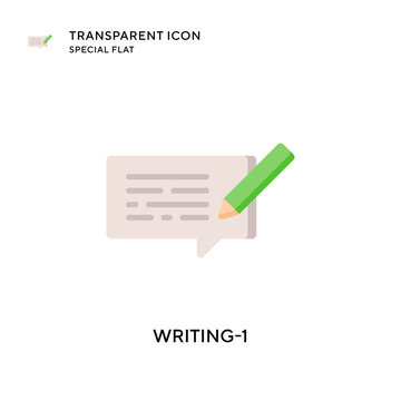 Writing-1 vector icon. Flat style illustration. EPS 10 vector.