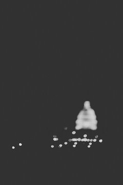 Capitol Building out of focus at night