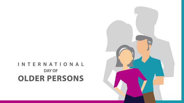 International Day of Older Persons. Vector illustration