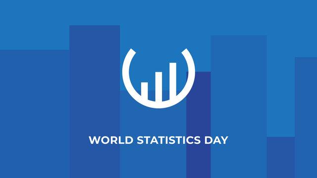 World Statistics Day. Vector illustration