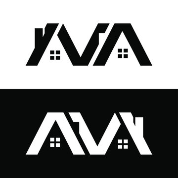 Letter AVA with home for design concept. Very suitable in various business purposes, also for icon, logo symbol and many more.