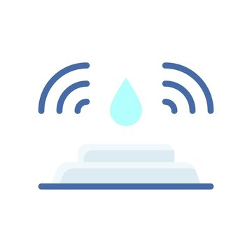 plumber icons related water motion device or sensor with water drop vector in flat style,