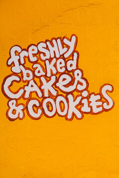 Hand paint Lettering of a Cake Shop