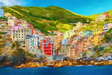 Surréalisme, Riomaggiore, Ligurie. Italie