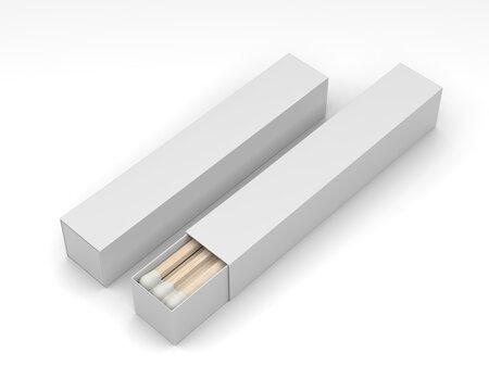 Blank promotional matchbox for branding and mockup, 3d render illustration.