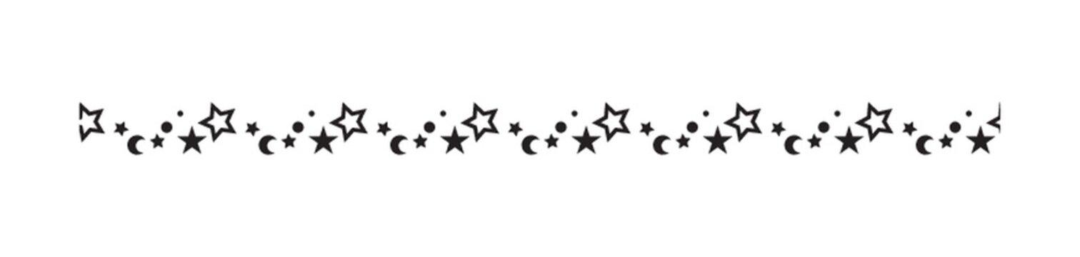 moons and stars pattern border design