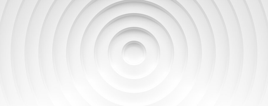 White circles with shadows. abstract pattern for web or print template white background, brochure cover or app. Material style. Geometric 3D illustration