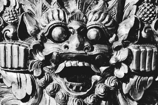 Barong, lion-like creature; Balinese mythology