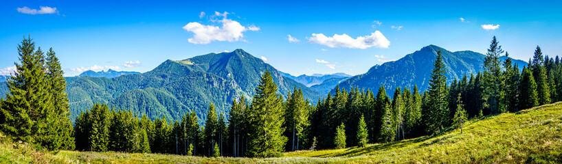 view from the Fockenstein mountain in bavaria