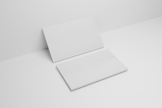 Realistic Branding and identity business cards layout mockup design.