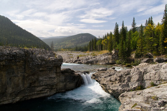 Elbow Falls on a Smoky Day