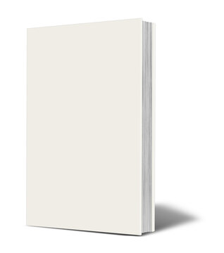 Blank  white book mockup with shadow.