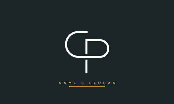 CP,PC,C ,P  Abstract Letters Logo Monogram