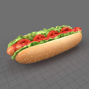 Hot dog with seeds 2