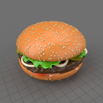 Stylized hamburger