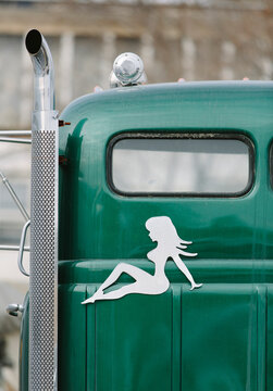 Trucker Cab with Iconic Girl Design