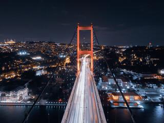 bosphorus bridge in the night
