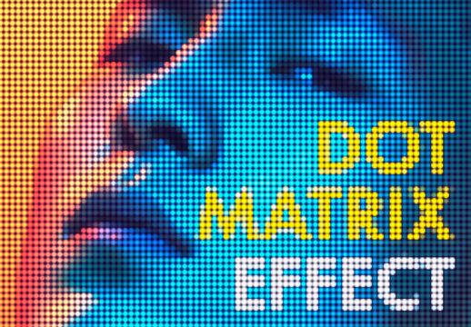 Dot Matrix Photo Effect