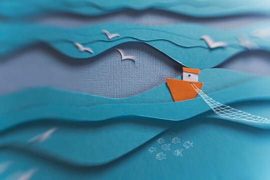 Fishing the deep blue sea...