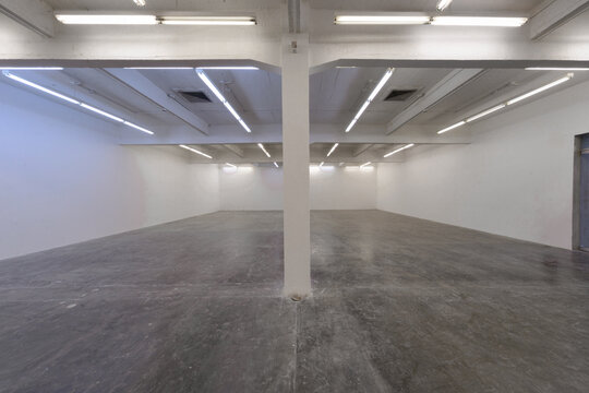 Space with blank walls, modern building, conceptual architecture
