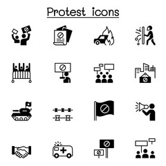 Protest icon set vector illustration graphic design