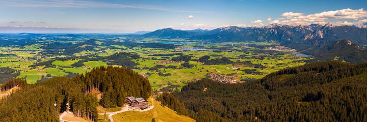 Photo sur Plexiglas Bleu jean panoramic landscape at Allgaeu in Bavaria
