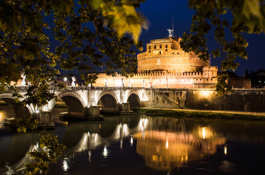 St Angelo Castle in Rome and Tevere river