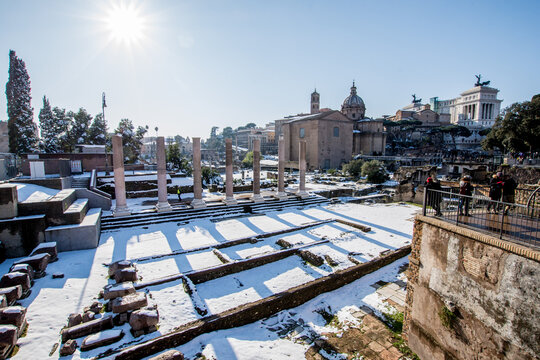 Rome Snow 3 Fori Romani