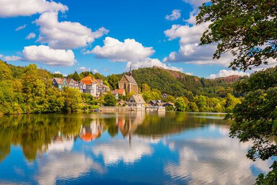 Beyenburger Stausee Reservoir in Western Germany