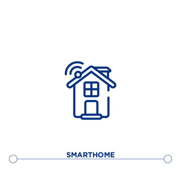smarthome outline vector icon. simple element illustration. smarthome outline icon from editable general concept. can be used for web and mobile