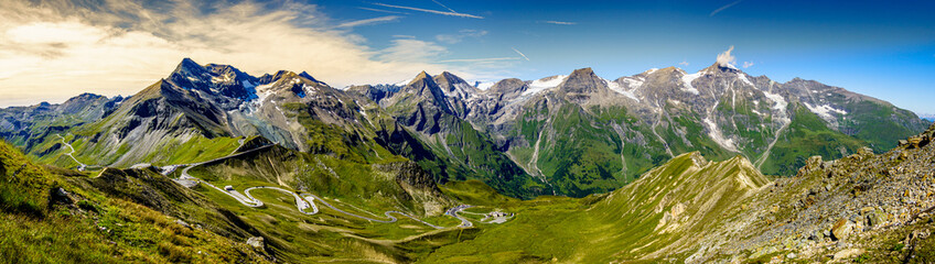 landscape at the Grossglockner mountain in austria