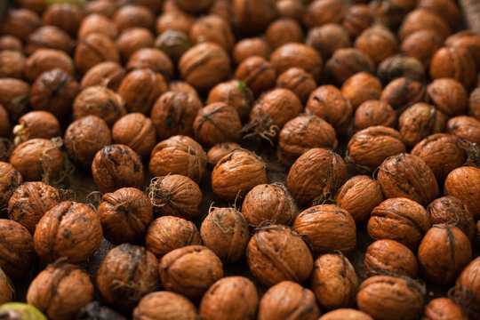 many nuts background