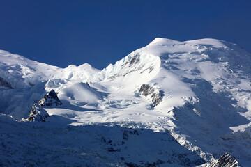 Mont Blanc Summit seen from Aiguille de Midi. France