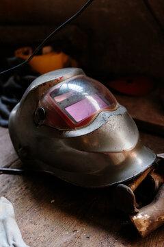 Welder protective helmet