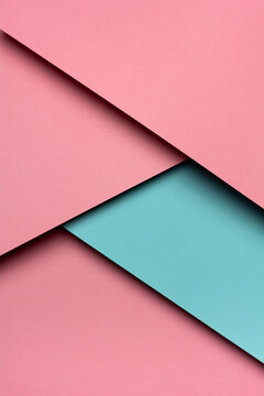 Pink and emerald paper material design