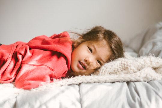 Little kid smiling