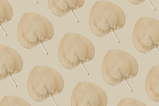 woven fan pattern