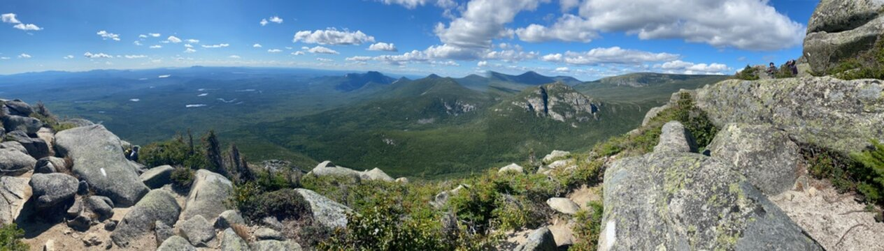 View above Mount Katahdin on the Appalachian Trail.