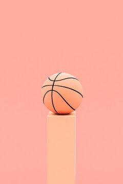 Pink basketball