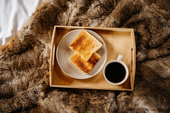 Continental breakfast at bed
