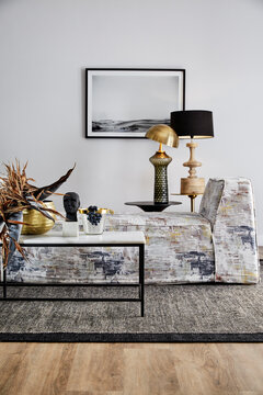 Daybed couch and coffee table