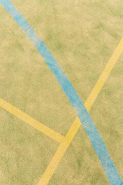 Coloured astro turf court lines