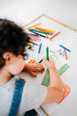 Mixed race child home schooling